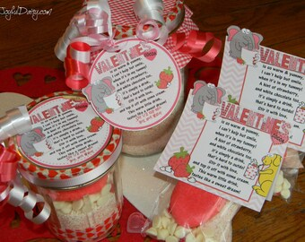 Valentine Strawberry White Chocolate Cocoa Recipe, Tags, & Packaging Ideas