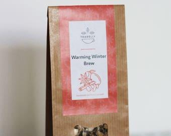 Warming Winter Brew  teabelly Organic Artisan Herbal Tea Blend Tisane Infusion