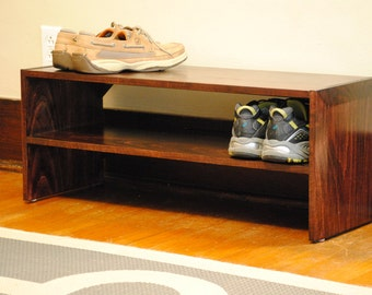 Shoe Rack-Not your Ordinary Wimpy Shoe Shelf from the big box stores-Solid Wood Construction