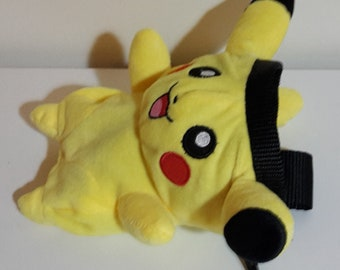 Pikachu Pokemon Rock Climbing Chalk Bag made from a child's plush toy