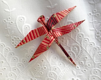 Origami Dragonfly Pin