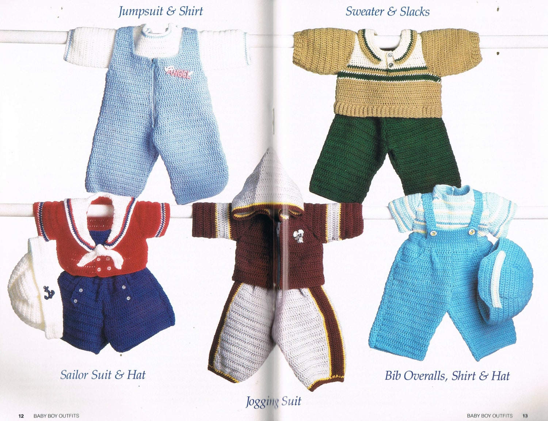 Bebé de ganchillo traje de marinero - bebé niño trajes de ganchillo ...