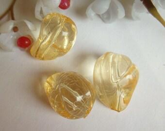 set of 3 plastic olive beads