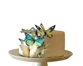 Edible Butterflies Assorted set of 15 - Cake & Cupcake Toppers - Food Decorations Wedding Cake Topper