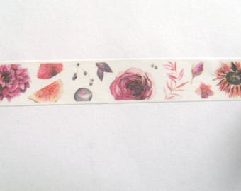 10 m Masking Tape Washi Tape tape flowers and Fruits