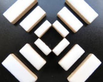 Ceramic Rectangle - White - 50g / 1.75 oz(approx. 60 pieces)