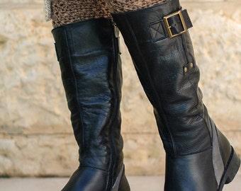 Brown Womens Boot Cuffs, Boot Socks, Crochet Leg Warmers,Boot Topper.