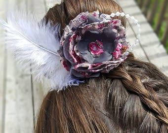 Grace flower bun wrap