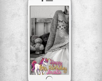 5th Birthday snapchat geofilter Birthday snapchat filter Unicorn Geofilter Birthday 3rd Birthday snapchat geofilter 6th Birthday geofilter