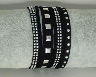 Black Suede Cuff Bracelet
