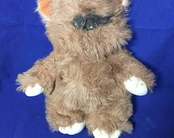 1983 Vintage Star Wars Ewok Stuffed Animal, Wicket the Ewok Plush Stuffed Animal Toy, Kenner