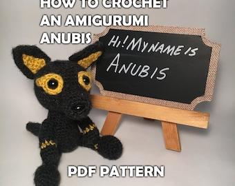 How to Crochet Amigurumi Anubis - Crochet Pattern - Crochet Ancient Egyptian God Stuffed Animal - Crochet PDF - DIY Crafts - Egyptian Decor