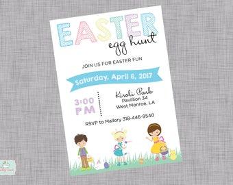 Easter Egg Hunt Children Invitation
