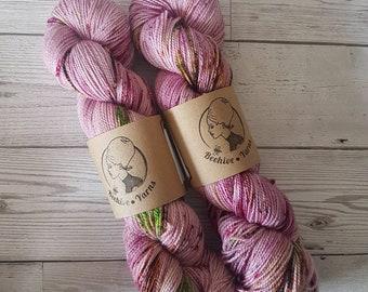 Rose Lichen ~ Bardot ~ Merino Nylon High Twist Sock Yarn
