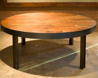 Gorgeous Iron & Wood Reclaimed 'Lake Superior' Table.