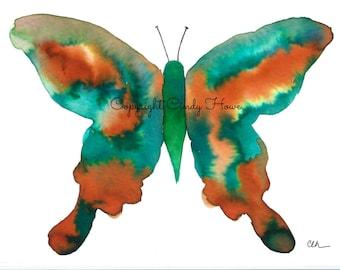 Set of 3 Greeting cards, blank inside, butterfly, watercolor, butterflies,