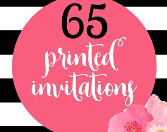 65 Printed Invitations With Envelopes