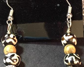 Tibetan Prayer Bead Earrings