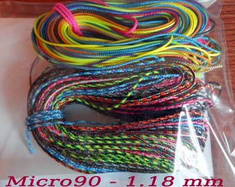 MICRO90 Paracord (1.18mm) Grab Bag. EXTRA THIN PARACORD  Choose 100ft or 200 ft bags My Choice of Colors - Choose free gift