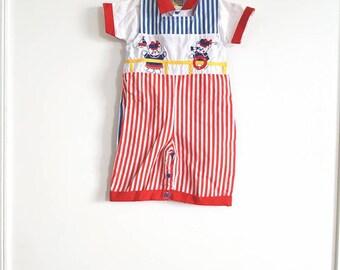 Vintage Boy's Stripe Outfit