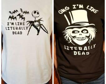Literally Dead - Jack Skellington / Haunted Mansion Hatbox Ghost