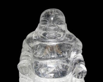 Statuette Chinese laughing Buddha Crystal 5cm