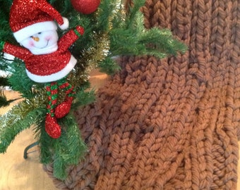 Super Chunky Wool Blanket 50x70 inches 125x180 cm, Super Bulky Wool Blanket, Chunky Knit Blanket, Merino Wool Blanket, Chunky
