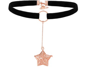 Essential Oils Diffuser Necklace, Star Necklace, Essential Oils Necklace, DarlingJ - DJN18016