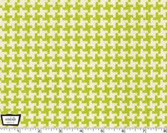 SALE - Textured Basics - Vintage Houndstooth Lime Green by Patty Young from Michael Miller