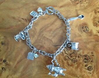 Tea Time Themed Charm Bracelet