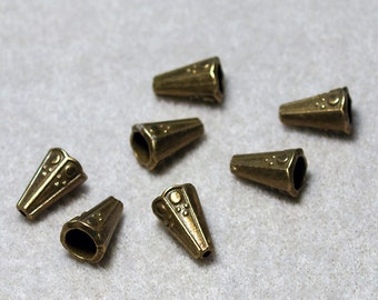 Antique Brass Cones- jewelry findings