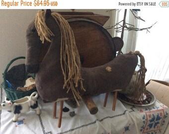 Spring Sale PrimitiveDoll,  Horse, Primitive Decor