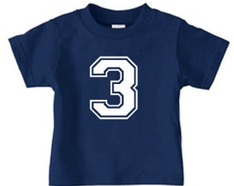 Personalized number t-shirt for kids, Birthday tee shirt for kids