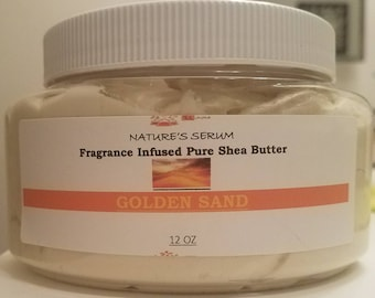 Golden Sand* Infused Whipped Shea Butter - 12 oz