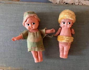 CUTE Little Peter Pan & Lost Boy Plastic Dolls