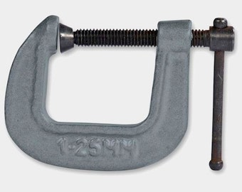 """Pair of 1"""" Quality Metal G CLAMPS  - for all craftwork, WOODWORK, DIY - Will Last Forever!"""