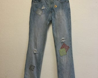 Mudd Patched Jeans