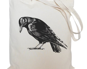 Tote bag/ drawstring bag/ cotton bag/ material shopping bag/ bird/ crow/ shoe bag/ market bag