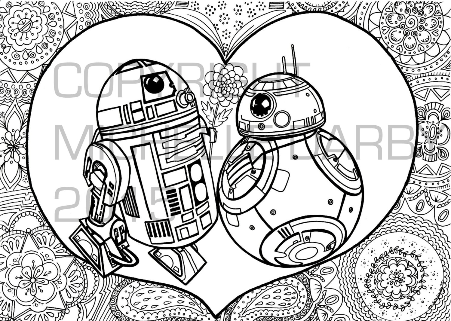 R2d2 3 bb 8 colouring page for Bb8 coloring page