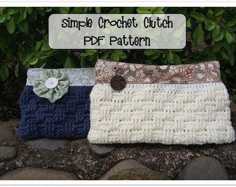 Simple Crochet Clutch Pattern