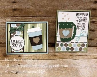 Greeting cards, handmade, set of 2