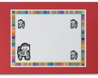 Post-its, Day of the Dead,Skeleton Cats,