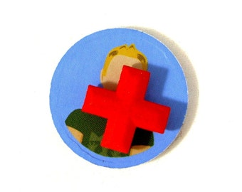 Flash Point: Fire Rescue Heal Tokens, Set of 3 for Board Game, game cross tokens, red cross, 3D printed, health tokens, replacement pieces