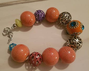 Colourful bracelet with lobster clasp v2