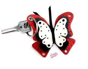 butterfly pattern keychain abon