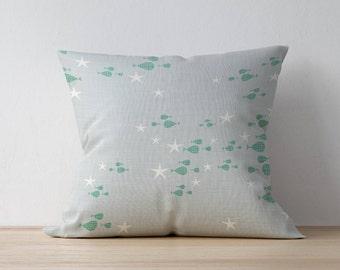 Throw Pillow, Decorative pillow, Home decor, Kids Pillow Cushion, Nautical pillow, Mid Century pillow, Playroom decor, Children Room Decor
