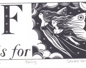 F is for Fairy - Alphabet Silkscreen Print