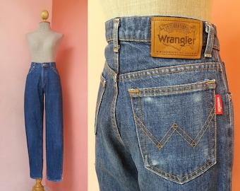 WRANGLER Jeans 28 Waist | Vintage Jeans Women | Womens Jeans | High Waisted Jeans | Blue Jeans | Denim Pants Medium M