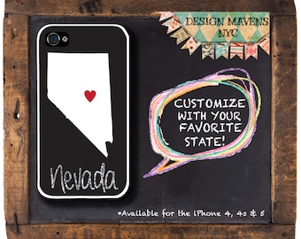 Nevada iPhone Case, Personalized iPhone Case, iPhone 4, iPhone 4s, iPhone 5, iPhone 5s, iPhone 5c, iPhone 6, Phone Cover, Phone Case