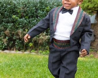Atoghu 5 piece suit/African boy suit/babyboy clothes//ankara /kente /African clothing/Dashiki/baby african wear/african shirt/kente